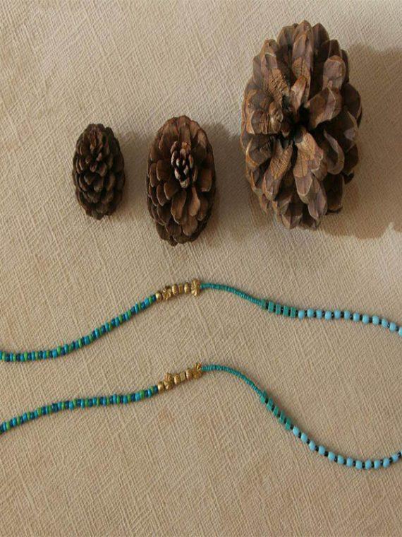 بند عینک دست ساز مهره مصنوعی آبی