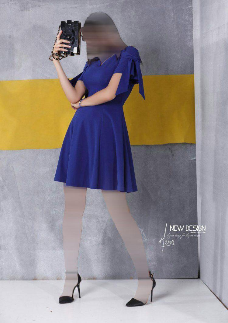 لباس کوتاه مجلسی کرپ عروسکی